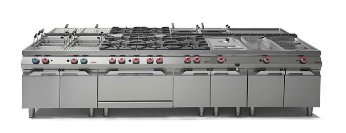 Комбинированные линии профессианального кухонного оборудования Desco 900