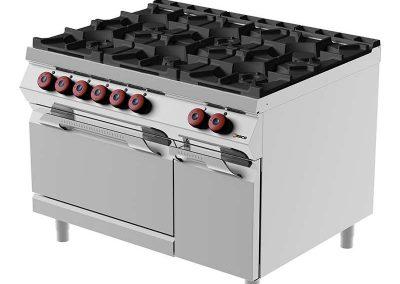 Промышленное кухонное оборудование - газовая плита