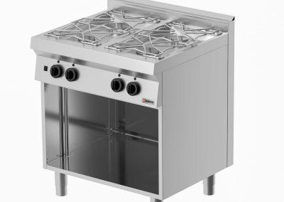 Кухонное оборудование линии Desco 700 - Плиты- 2-х, 4-х или 6-ти конфорочные
